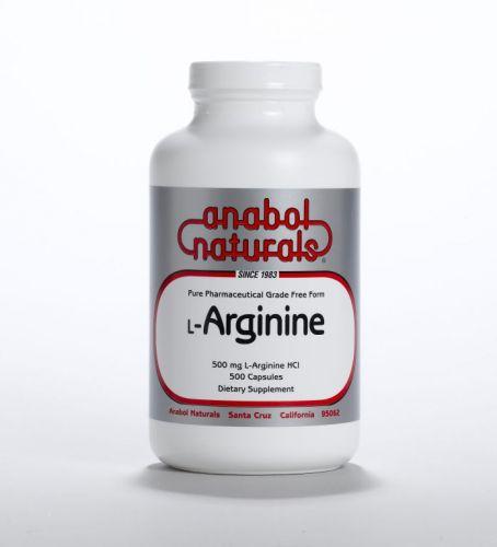 L-Arginine - 500 mg caps - 100 caps