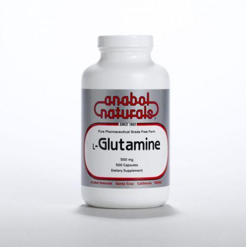 L-Glutamine - 500 mg caps - 500 caps