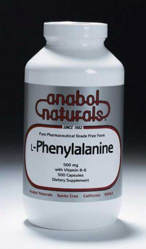 L-Phenylalanine - 500 mg caps - 100 caps