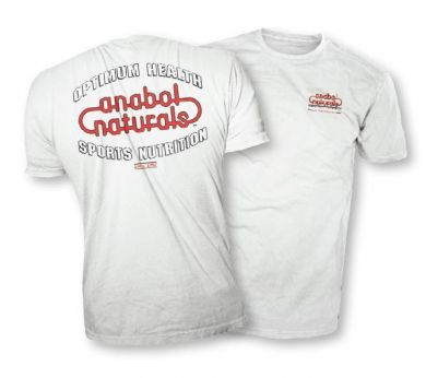 AnabolNaturals White T-Shirt
